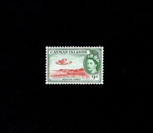 CAYMAN IS - 1954 - QE II - GEORGETOWN HARBOR - SEAPLANE # 144 - MINT MNH SINGLE!
