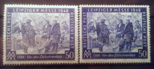 Germany Allied Occupation Mi 967 a+b **