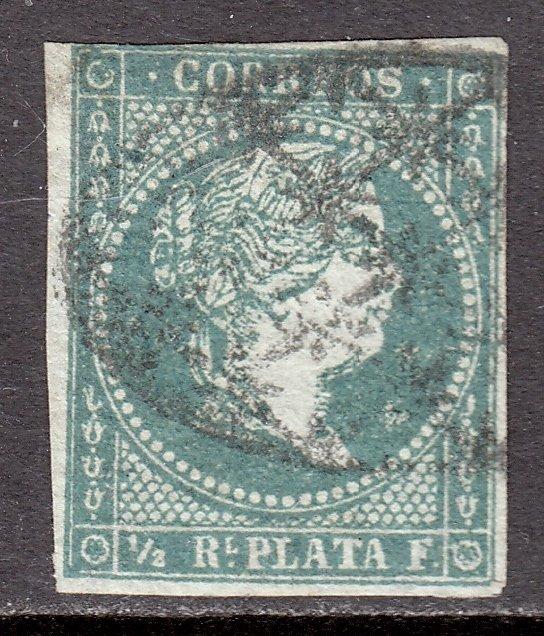 Cuba - Scott #1 - Used - 3 full margins - SCV $8.00