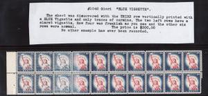 USA #1042 VF/NH Blue Vignette Error In Block Of 20