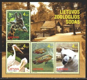 Lithuania. 2011. 1066-69. Zoo in Lithuania. MNH.