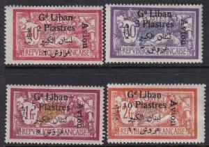 Lebanon 1924 SC C5-C8 Mint Set
