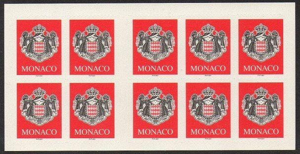 Monaco 2000 Coat of Arms Pane VF (2191a)