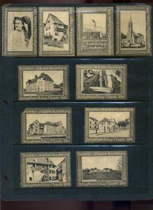 30 GERMAN 1914 GEWERBE & INDUSTRIE AUSSTELLUNG SCHOPFHEIM POSTER STAMPS (L1021)