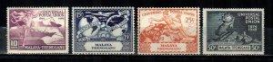 Malaya - Trengganu #49-52  MNH  Scott $4.95