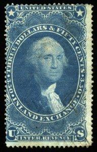 B345 U.S. Revenue Scott R87c $3.50 Inland Exchange, spacefiller SCV = $70