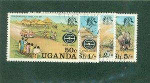 UGANDA 167-170 USED BIN$ 1.50