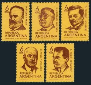 Argentina 897-901,MNH.Michel 1025-1029. Portraits 1969.Scientists.