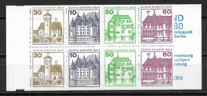 SCARCE 1977-9 Berlin complete Castles booklet with 9N391d pane MNH SCV$15.