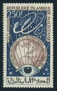 Mauritania C63,MNH.Michel 307. World EXPO Montreal-1967.Eye,Globe,Rockets.