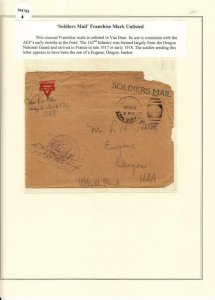 1917, 162nd Inf. to Europe, Ex Lowther, See Remark (M4705)