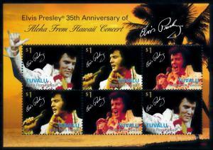 [76325] Tuvalu 2008 Music Elvis Presley Aloha from Hawaii Concert Sheet MNH