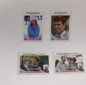 O) 1986 TUVALU, NANUMAGA, ROYAL WEDDING, PRINCE ANDREW, SARAH FERGUSON, PRINC...
