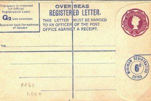GB QEII Unused Registered Postal Stationery RPFIO FORCES RP80 Military 40c.12