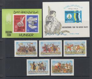 Syria Sc C291a, C405, C462-C466 MNH. 1963-70 issues, 3 complete sets, fresh.