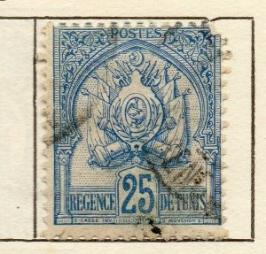 Tunis 1901 Early Issue Fine Used 25c. NW-114589