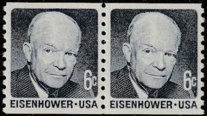 USA stamp, Scott# 1401, MNH, pair of stamps, EISENHOWER, tagged, #m161