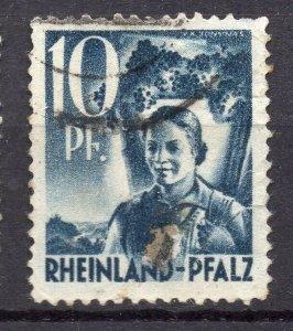 Germany Rheinland 1947-48 Early Issue Fine Used 10pf. NW-05541