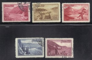 RUSSIA SC# 2273-77 **USED** 1959  LAKES  SEE SCAN