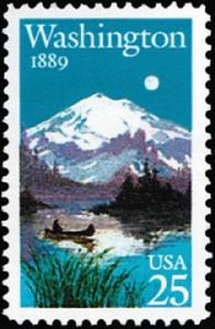 2404 Washington Statehood F-VF MNH single