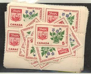 Canada - 1965 5c Purple Violet X 100 mint #421