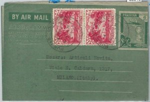 65918 -  PAKISTAN  - Postal History -  AEROGRAMME to ITALY 1960