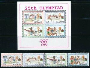 Malawi - Barcelona Olympic Games MNH Sports Set (1992)