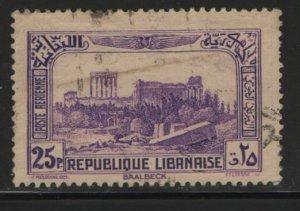 LEBANON, C72, USED, 1937-40, Ruins of Baalbek