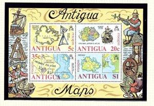 Antigua 382a MNH 1975 Maps of Antigua S/S     (KA)