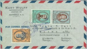 86076 - GUATEMALA - POSTAL HISTORY - AIRMAIL COVER to GERMANY  1953