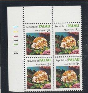 Palau  Scott#  10  MNH Block of 4  (1983 Map Cowrie)