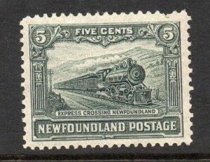 Newfoundland 1928 KGV Publicity 5c p14-13½ DLR ptg SG 168a mint CV £48