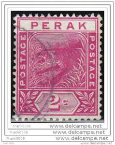 Malaya, Perak, 1892, Tiger, 2c, sc#43, used