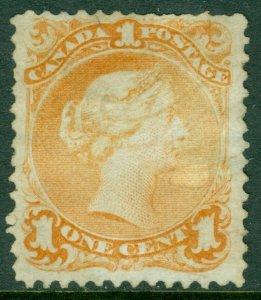 EDW1949SELL : CANADA 1869 Scott #23 Yellow Orange. Used. Catalog $290.00.