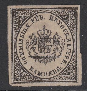 GERMANY Retourbriefe - Returned Letter Stamp - an old forgery - Bamberg.....B229