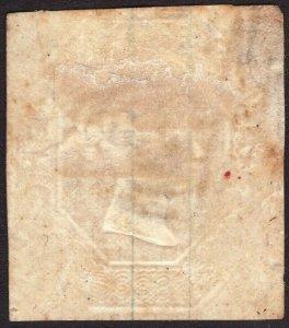 1848 Great Britain QV 10 pence horizontal oval cancel 625 Sc# 6 CV $1,500.00