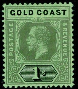 GOLD COAST SG79d, 1s black/green, LH MINT. WMK MULT CA