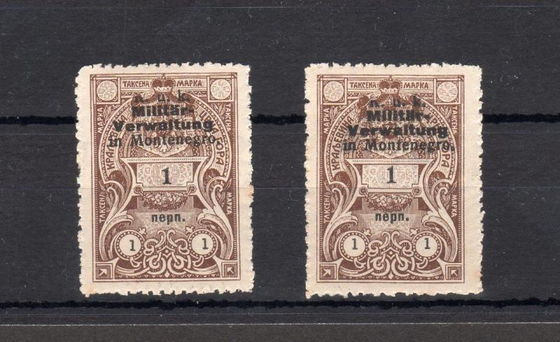COLLECTION OF MONTENEGRO REVENUES / FISCALS