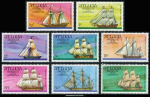 Saint Lucia Scott 379-386 Mint never hinged.