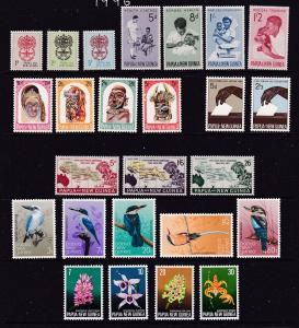 Papua N.G. a mint selection with sets