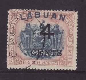 1899 Labuan 4c On 24c Perf 14½-15 Fine Used SG107