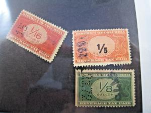 U.S. WASHINGTON, D.C. TAX STAMPS - LOT OF 3