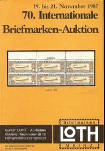 70. Loth-Briefmarken-Auktion: Internationale Briefmarkena...