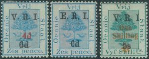 88464 - SOUTH AFRICA: Orange Free State - SG # 136/38 -  MINT well centered MLH