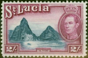 St Lucia 1938 2s Blue & Purple SG136 Fine Mtd Mint