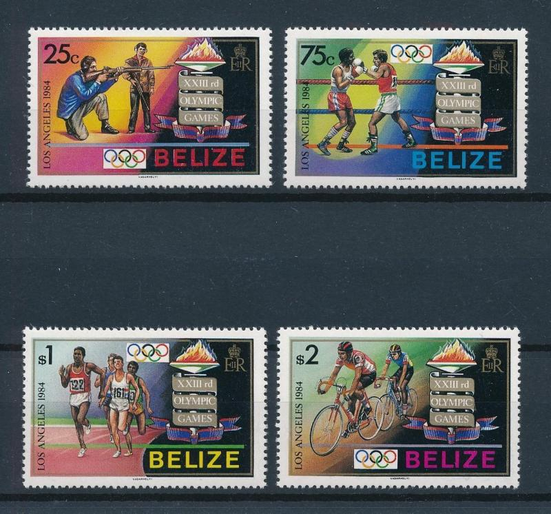 [75422] Belize 1984 Olympic Games Los Angeles Shooting Boxing Cycling  MNH