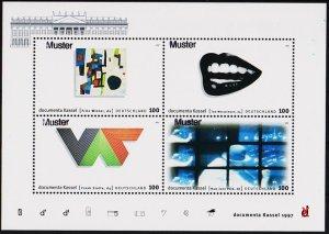Germany. 1997 Miniature Sheet(Specimen) S.G.MS2780 Unmounted Mint