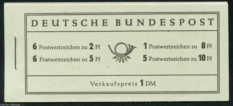 GERMANY MICHEL# MH 3 COMPLETE UNEXPLODED BOOKLET MINT NEVER HINGED AS SHOWN
