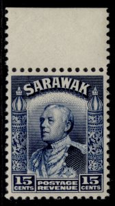 SARAWAK GVI SG115a, 15c blue, NH MINT.