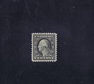 SCOTTS# 507 UNUSED OG NH 7 CENT WASHINGTON, 1917, GRADED 98, PSAG CERT.